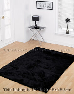 LARGE-DEEP-THICK-BLACK-SOFT-SHAGGY-SPARKLE-RUG-75x150cm