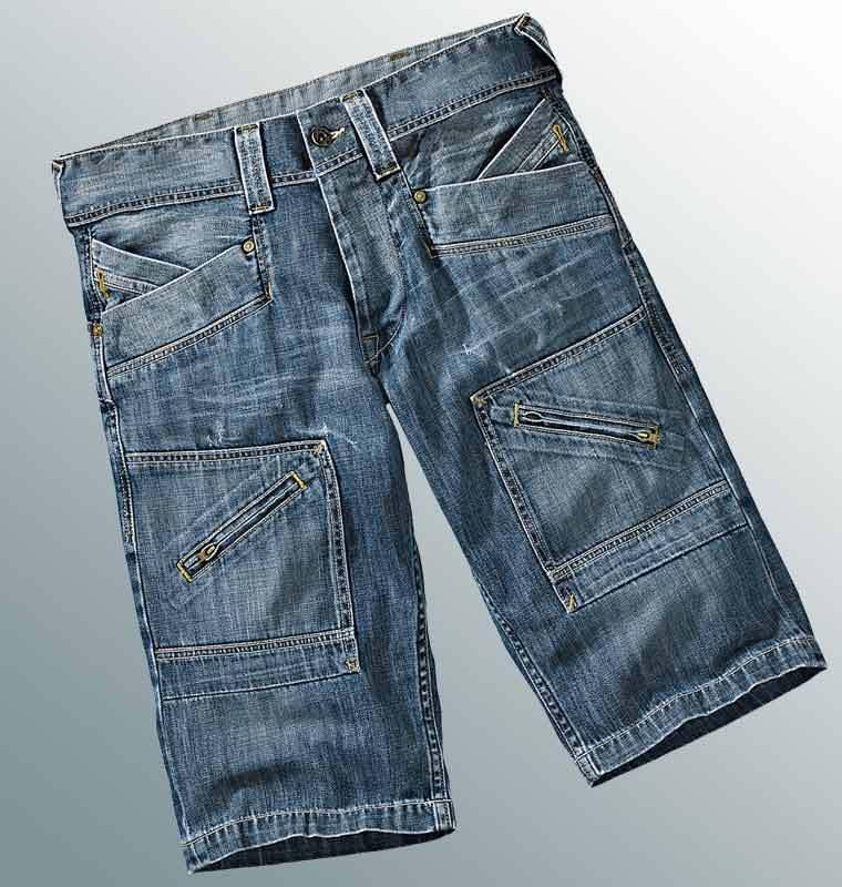Pepe Jeans London Shorts W33 NEU Bermuda Herren Denim Gerade Gerade Gerade Hose Blau Used 4f1eaa