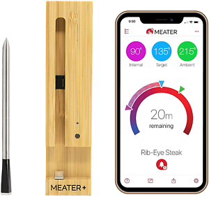 MEATER Plus165ft Long Range Smart Wireless Meat Thermometer for The Oven Gril