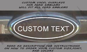 Image Is Loading Custom Vinyl Overlay Fits All Ford Emblems Edge