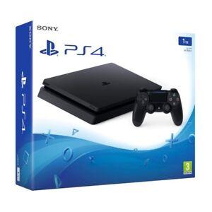 Sony PlayStation 4 PS4 Slim schwarz 1TB Spielekonsole Videospielekon<wbr/>sole 3D