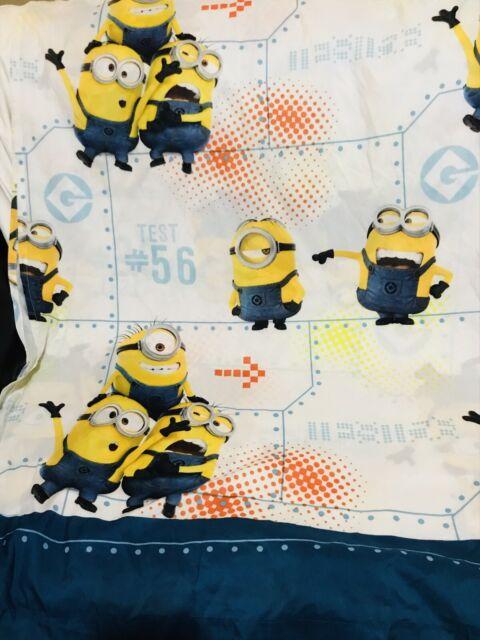 Despicable Me Minions Top Flat Bed Sheet Fabric Microfiber EUC