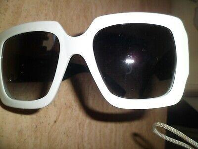 Marc Jacobs Quadrato Grande Bianco E Nero, Occhiali Da Sole 179/s Rrp £ 209.00-mostra Il Titolo Originale