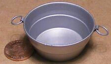 1:12 Scale Large Round Empty Metal Bowl Tub Dolls House Fairy Garden SA