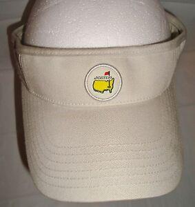 Augusta-National-Masters-Khaki-Golf-Visor-Adjustable-Hat-One-Size-Strapback
