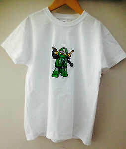 Kids-Bordado-Ninjago-T-shirt-18-Colores-3-4-Anos-De-14-15-Anos