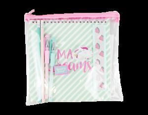 MAGICAL UNICORN STATIONERY SET  Donut Melon Notebook Pen Eraser set school acces