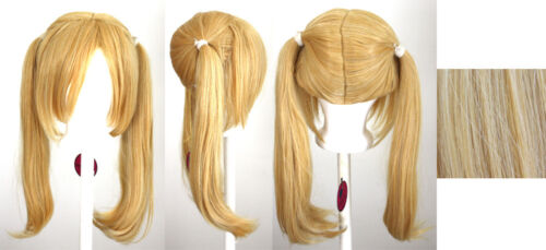 18/'/' Pig Tails w// Part Long Bangs Butterscotch Blonde Wig Cosplay NEW