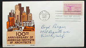 US-Cachet-Craft-Boll-Cover-FDC-Ny-Centennial-Stamp-3c-USA-First-Day-H-7559