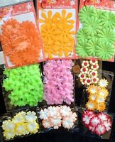 220 Flowers Lot Assortment Petals Flower Handmade Mulberry Paper Fabric Party 8