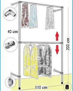 eleganter kleiderst nder wandregal kleiderkammer kleiderstange garderobe w 10 ebay. Black Bedroom Furniture Sets. Home Design Ideas