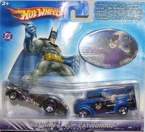 Hotwheels batmans Batmobile et Chat Femme Pack de deux Exclusive Limited Edition Set
