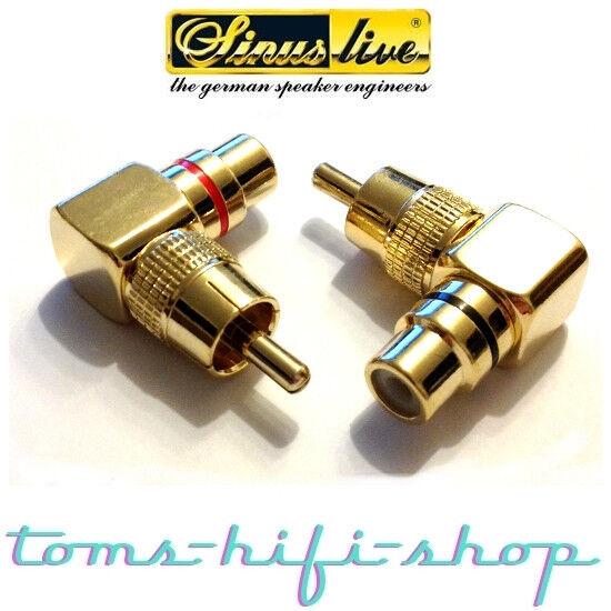 SinusLive CWS Cinchwinkelstecker paar Cinch Winkelstecker RCA Adapter 2 Stück