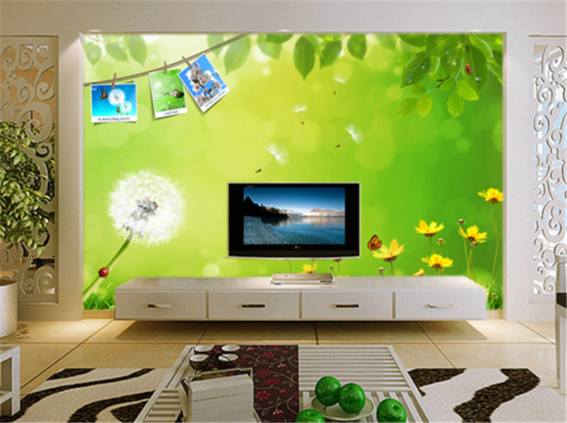 3D Leaves Dandelion 8 Wallpaper Mural Paper Wall Print Wallpaper Murals UK Carly
