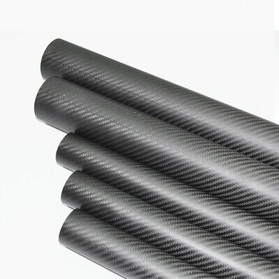 3K Carbon Fiber Tube OD 55mm x ID 53mm x 500mm Twill Matt Roll Wrapped UAV55x53