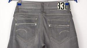G-Star Raw Damen Saville Gerade Stretch Jeans Größe W27 L32 APZ251