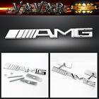 AMG Logo 3D Metal Racing Front Hood Car Grille Grill Badge Emblem New
