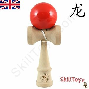 Dragon-Kendama-full-sized-beech-wood-034-Red-Hot-Chilli-034-Edition-Game-of-skill-toy