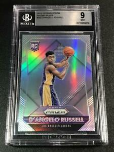D'ANGELO RUSSELL 2015 PANINI PRIZM #322 SILVER REFRACTOR ROOKIE RC MINT BGS 9