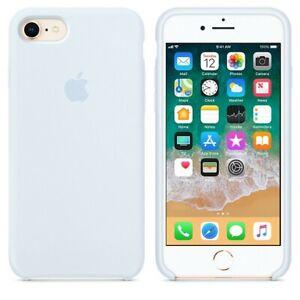 iPhone-8-7-SE-2020-Apple-Echt-Original-Silikon-Schutz-Huelle-Himmelblau