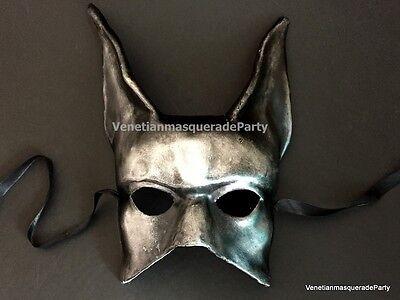 Black Silver Jackal Mask Anubis Egypt Egyptian Dog Halloween costume Dress up