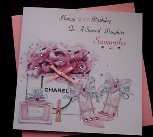 Image Is Loading Handmade Personalised Birthday Card Daughter Granddaughter 18th 21st