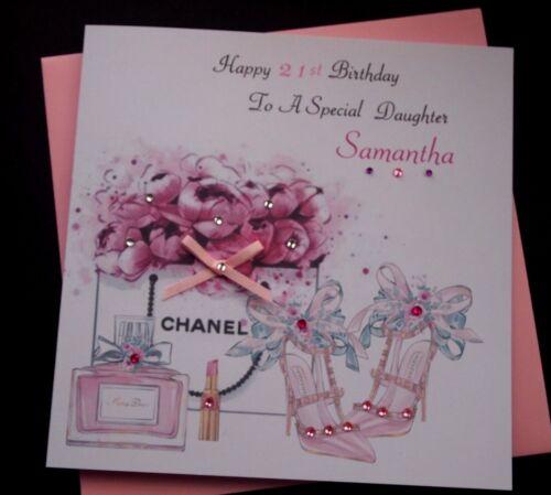 Handmade Personalised Birthday Card Daughter Granddaughter