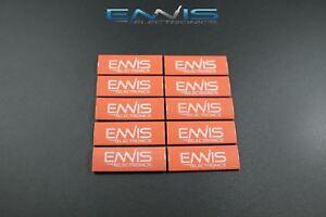 10-PCs-2-4-6-Gauge-Heat-Shrink-Tube-1-2-x-1-5-Zoll-Rot-Tubing-Ring-Terminal