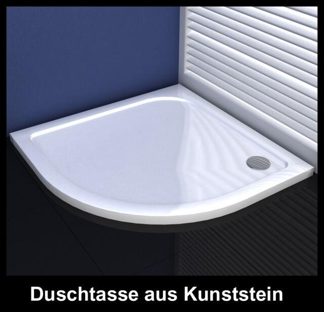 Duschtasse 40mm Schmallinie Runddusche aus Kunststein für Duschkabine Dusche