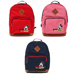 15ed78c0dc3 Disney Mickey Mouse Backpack Red Pink Navy color   Genuine Bag ...