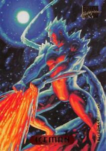 bb66ebd0cb4 Image is loading ICEMAN-1994-Marvel-Masterpieces-Fleer-Base-Trading-Card-