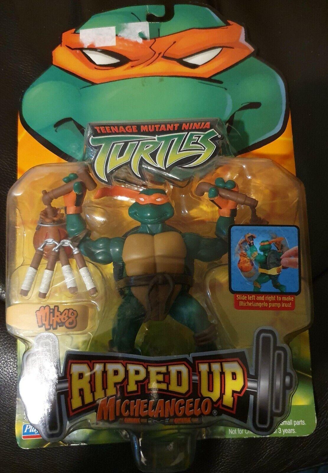 PLAYMATES Teenage Mutant Ninja Turtles 2004 Strappato UP Michelangelo Figura