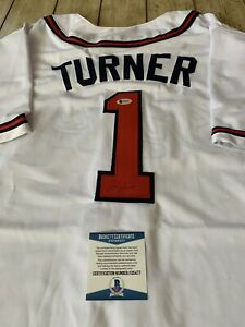 Ted Turner Autographed/Signed Jersey Beckett COA Atlanta Braves