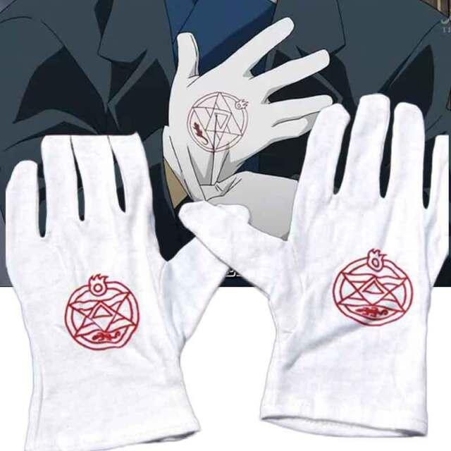 NXMRN Guanti Moto,Anime Fan We-657 Anime Fullmetal Alchemist Colonel Roy Mustang Edward Elric Cosplay Costume Guanti