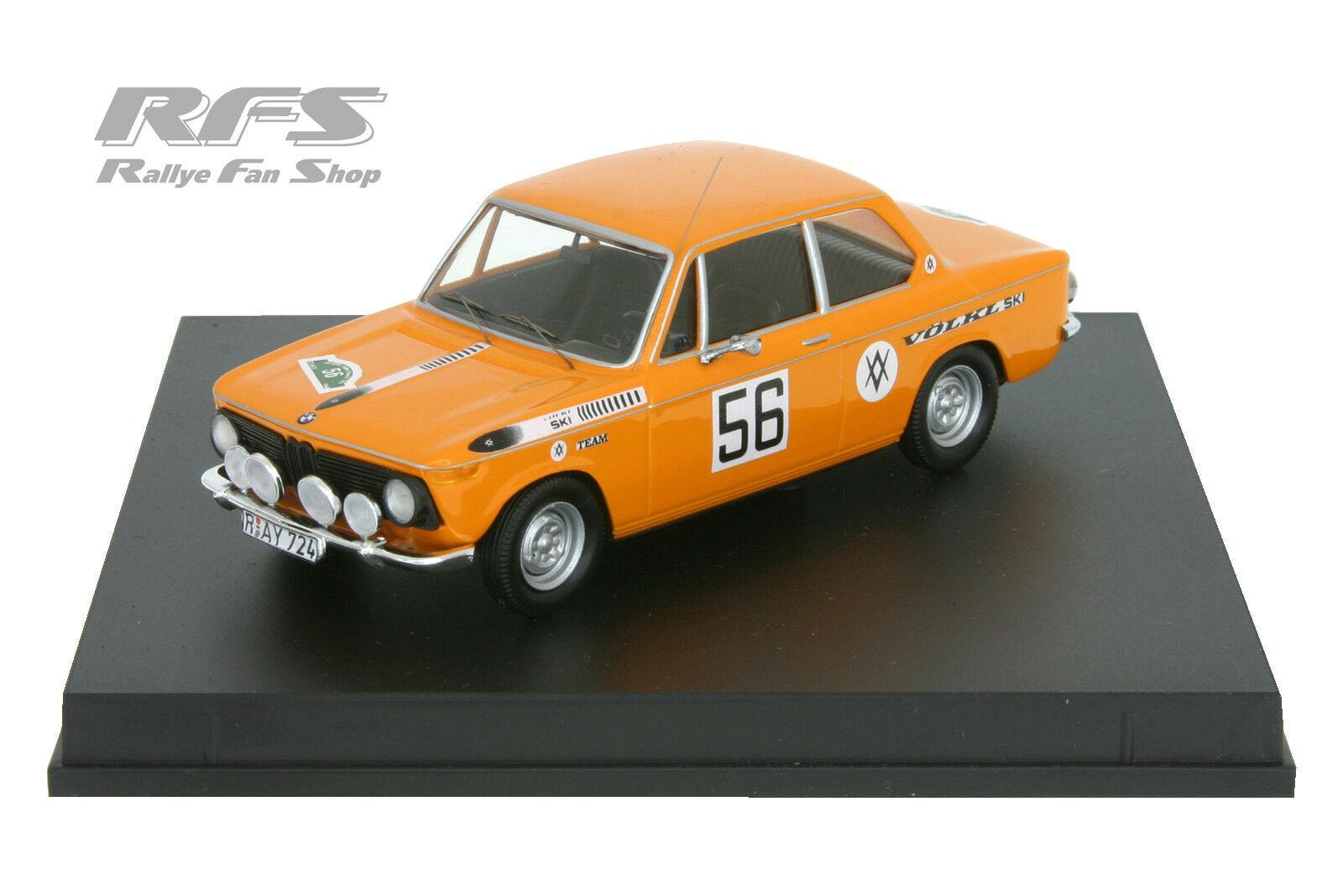 BMW 2002 Ti - Röhrl   Marecek - Bavaria Rallye 1969 - 1 43 Trofeu 1722    Feine Verarbeitung