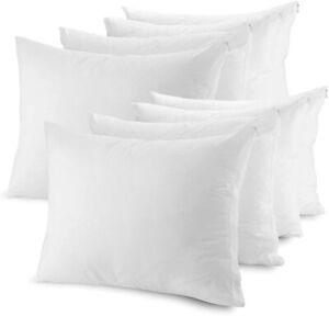 Blanco-8-xpillowcases-100-Algodon-Egipcio-200-Hilos-Protectores-De-Almohada-Suave