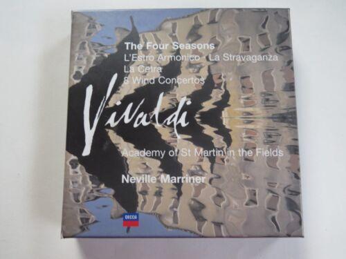 1 of 1 - VIVALDI - Four Seasons/8 Wind Concertos/L'Estro Armonico - 7 x CD - Marriner