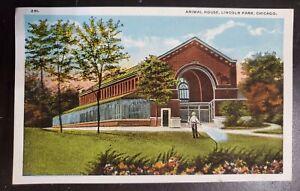 Postcard Vintage Animal House Lincoln Park Chicago