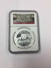 2014 China 1 Oz Silver Panda Medal. Smithsonian Institution NGC PF70 Ultra Cameo