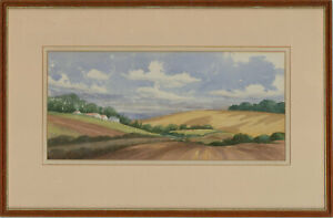 Winifred-Burlingham-20th-Century-Watercolour-In-the-Fields