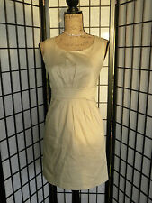 SALE! with pockets!! 4p size 4 Petites Mossimo Semi formal beige dress pleated