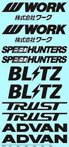 JDM Tuning Street Racing Advan Trust SpeedHunters black 1:18 Decal Abziehbilder