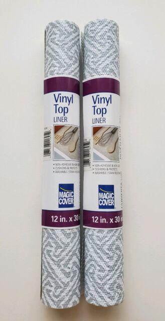 12 in Magic Cover Vinyl Top Non-Adhesive Shelf Liner x 30 in. White