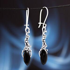 Onyx-Silber-925-Ohrringe-Damen-Schmuck-Sterlingsilber-H0351