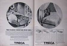 PUBLICITÉ 1967 TRÉCA SOMMIER ET MATELAS - ADVERTISING
