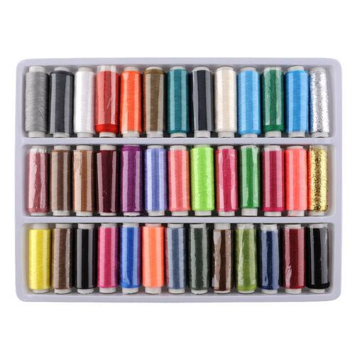 1 caja 39 PCS carretes colorido bordado de poliéster coser hilo acolchado XM