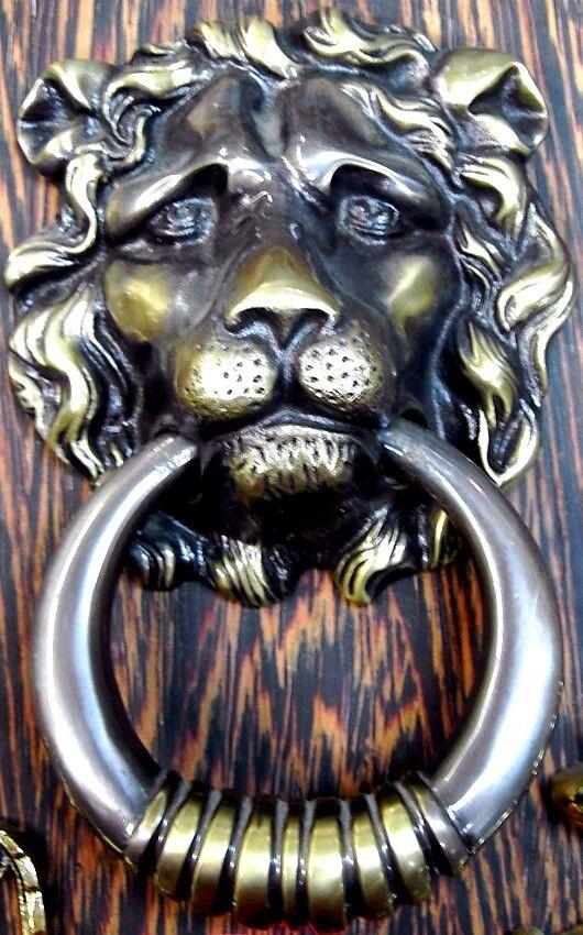 Klopfer wie antik Flämischer Löwe für die Haustür Türklopfer