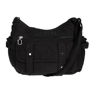 c9f463520aa3c Das Bild wird geladen Damenhandtasche-Schultertasche-Tasche-Umhaengetasche- Canvas-Shopper-Crossover-Bag