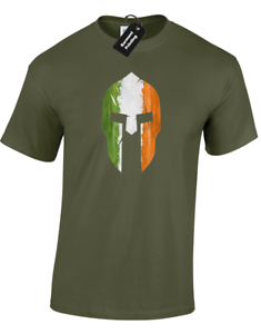 IRELAND FLAG SPARTAN MENS T SHIRT CROSSFIT IRISH TRAINING TOP GYM WEAR FITNESS