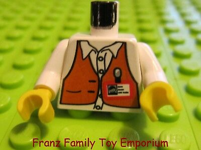 LEGO White Studios Minifigure Director Torso Body Part